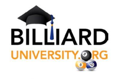 Billiard University LOGO Billiards Instruction Play Pool and Earn a Diploma