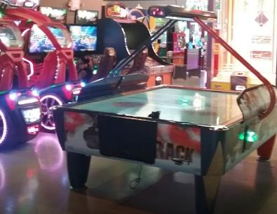 PLAY AIR HOCKEY AT LANES TRAINS AND AUTOMOBILES