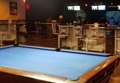 PLAY POOL AT LANES TRAINS AND AUTOMOBILES