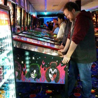PLAYING ARCADE GAMES AT FLASHBACK ARCADE