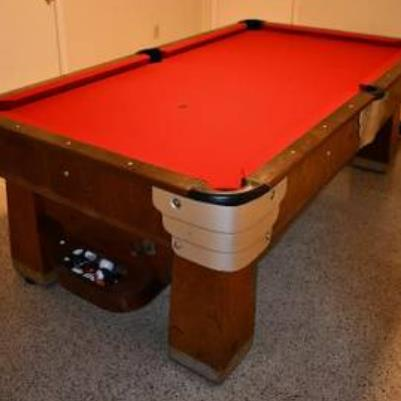 Pool Table made at Saunier Wilhelm plant circa 1930s Ray Gilchrist Worked there in 1950s