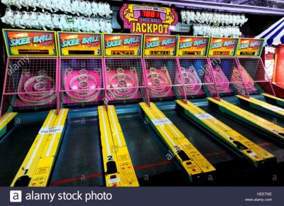 SKEE BALL AT TN THROWBACK ARCADE
