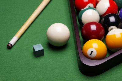 pool table accessories chalk cue billiard balls rack and more at Nashville Billiard and Patio